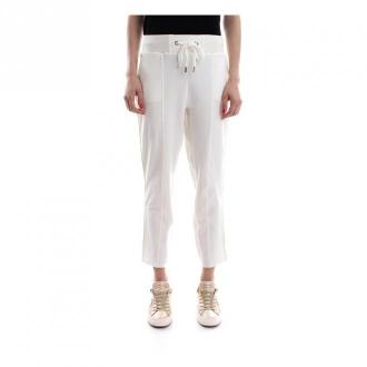 Elisabetta Franchi Spodnie Pa11281E2 Spodnie Biały Dorośli Kobiety