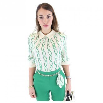 Elisabetta Franchi Koszula Koszulki i topy Zielony Dorośli Kobiety