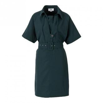 Victoria Beckham Taffeta Shirtdress Sukienki Zielony Dorośli Kobiety