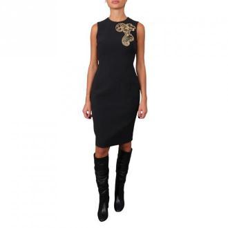 Versace Collection Woman Fabric Dress Sukienki Czarny Dorośli Kobiety
