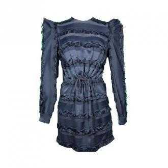 Versace Collection Dress With Fringes Sukienki Niebieski Dorośli