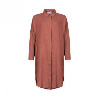 TIF Tiffy Faliana Oversize Shirt Sukienki Różowy Dorośli Kobiety