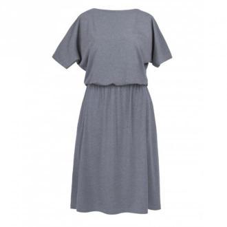Kasia Miciak design Sukienka midi z kieszeniami Sukienki Szary Dorośli