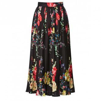Patrizia Aryton Spódnica plisowana w kwiaty Spódnice Czarny Dorośli