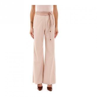 Nanushka Faux leather trousers Spodnie Różowy Dorośli Kobiety Rozmiar: