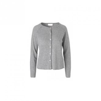 Butterfly Copenhagen Sweter rozpinany Swetry i bluzy Szary Dorośli