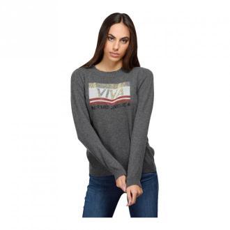 Brand Unique Sweater With Strass Swetry i bluzy Szary Dorośli Kobiety