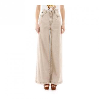 Dolce & Gabbana Flare jeans Jeansy Beżowy Dorośli Kobiety Rozmiar: 40