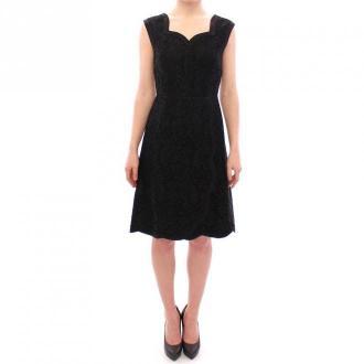 Dolce & Gabbana Floral lace sicily runway dress Sukienki Czarny