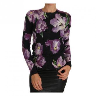 Dolce & Gabbana Cashmere Silk Tulip Sweter Cardigan Swetry i bluzy