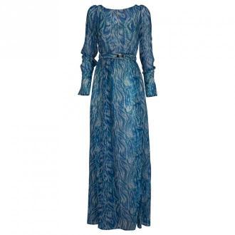 Patrizia Pepe Suknie Sukienki Niebieski Dorośli Kobiety Rozmiar: L -