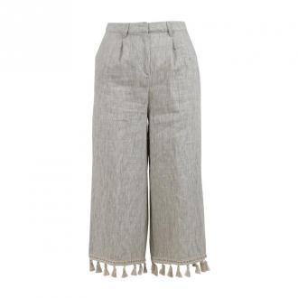 Manila Grace Trousers Spodnie Beżowy Dorośli Kobiety Rozmiar: 42 IT
