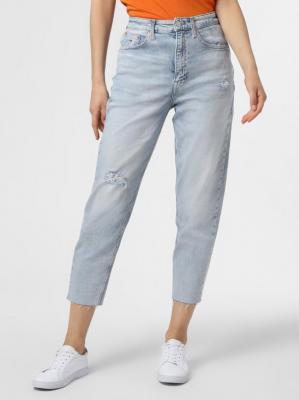 Tommy Jeans - Jeansy damskie – Mom Jean, niebieski