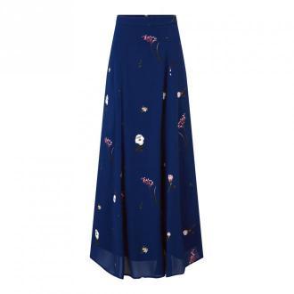 IVY & OAK z nadrukiem Maxi Spódnica szyfonu Spódnice Niebieski Dorośli