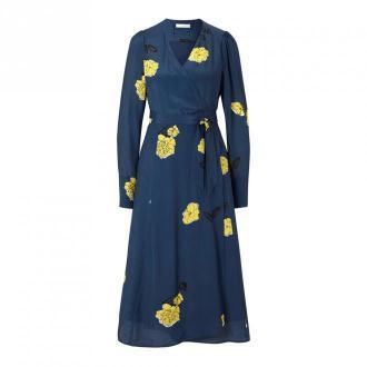 Wrap Dress with floral Print Midi