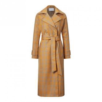IVY & OAK Trench Coat Checked Płaszcze Pomarańczowy Dorośli Kobiety