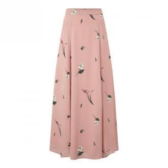IVY & OAK z nadrukiem Maxi Spódnica szyfonu Spódnice Różowy Dorośli