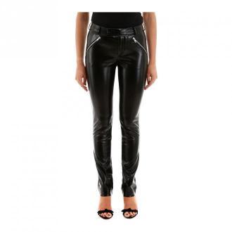 Philosophy di Lorenzo Serafini Vegan leather trousers Spodnie Czarny