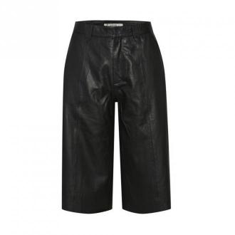 Gestuz Leather Trousers Spodnie Czarny Dorośli Kobiety Rozmiar: 42