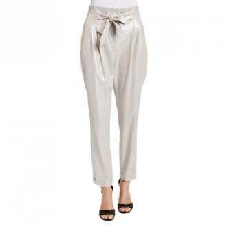 Gaudi Linen trousers with a bright and slightly iridescent texture
