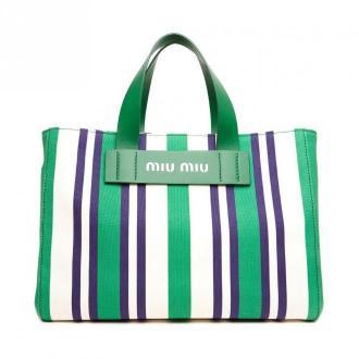 Miu Miu Large multi tote bag Torby Zielony Dorośli Kobiety Rozmiar: