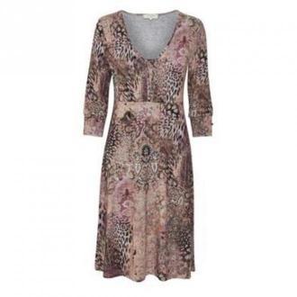 Cream Candi kremowobeżowy wzorzyste sukienki Sukienki Brązowy Dorośli