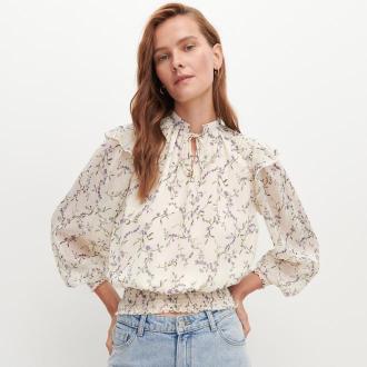 Reserved - Bluzka w romantycznym stylu - Wielobarwny