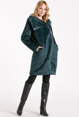 Futrzany płaszcz damski