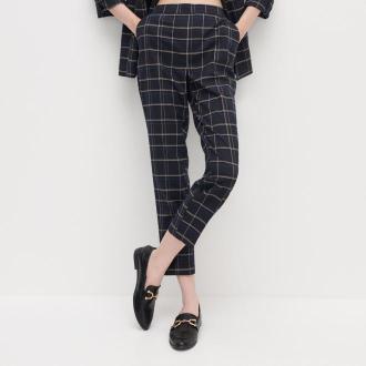 Reserved - Spodnie w kratę - Czarny