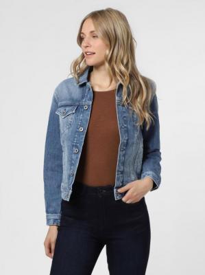 Pepe Jeans - Damska kurtka jeansowa – Rose, niebieski