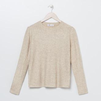 Sinsay - Gładki sweter - Beżowy