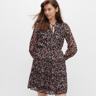 Reserved - Wzorzysta sukienka - Wielobarwny