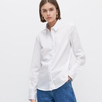 Reserved - Koszula z bawełną organiczną - Biały