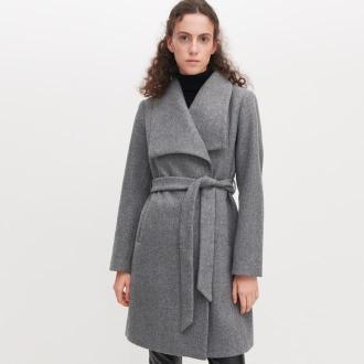 Reserved - Płaszcz z szerokimi klapami - Jasny szary