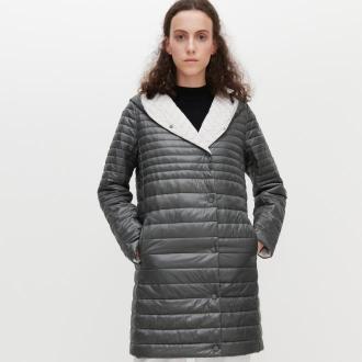 Reserved - Pikowany płaszcz - Khaki