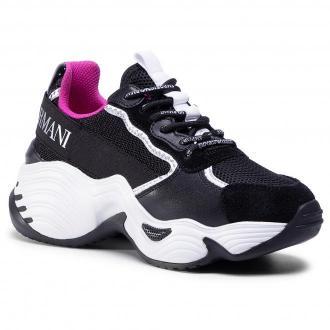 Sneakersy EMPORIO ARMANI - X3X088 XM059 N102 Blk/Blk/Blk/Silv/Whi