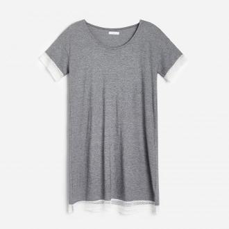 Reserved - Koszula nocna z bawełną organiczną - Szary
