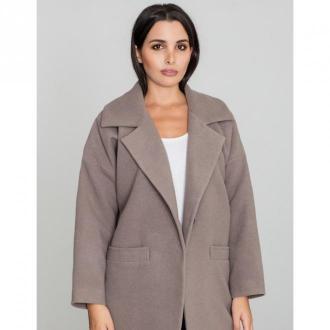 Płaszcz klasyczny z kieszeniami na guzik oversize M590