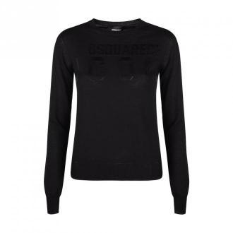 Dsquared2 Sweatshirt Swetry i bluzy Czarny Dorośli Kobiety Rozmiar: XS