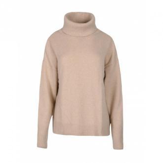 Veva Golf z wełną Warmest Sounds Swetry i bluzy Beżowy Dorośli Kobiety