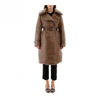 Burberry Monogram nylon trench coat Płaszcze Beżowy Dorośli Kobiety