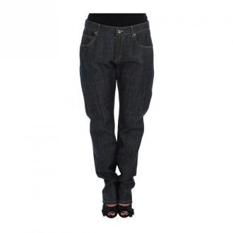 Dolce & Gabbana Oversize Jeans Jeansy Niebieski Dorośli Kobiety