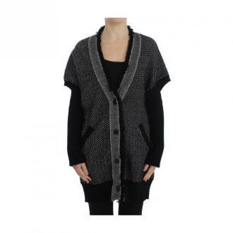 Dolce & Gabbana Cashmere Cardigan Swetry i bluzy Szary Dorośli Kobiety