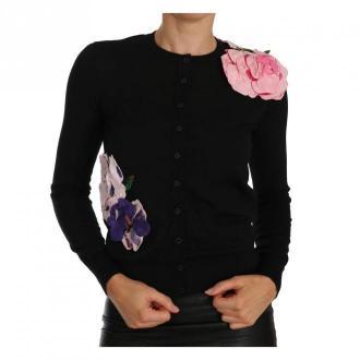 Dolce & Gabbana Sweter rozpinany Swetry i bluzy Czarny Dorośli Kobiety