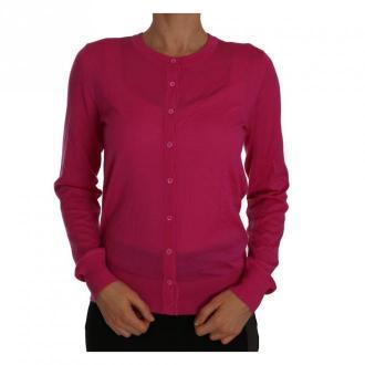 Dolce & Gabbana Cashmere Kardigan Swetry i bluzy Różowy Dorośli
