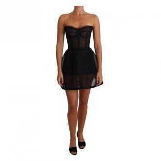 Dolce & Gabbana Bustier Corset Dress Sukienki Czarny Dorośli Kobiety