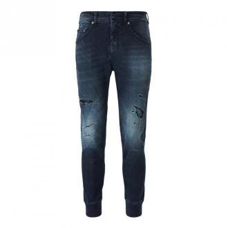 Neil Barrett Ribbed Cuffs Jeans Jeansy Niebieski Dorośli Kobiety