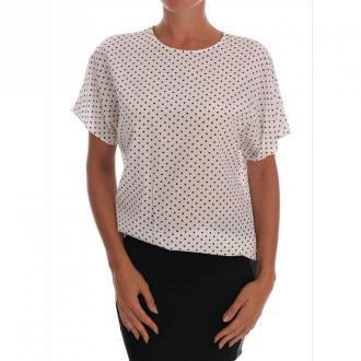 Dolce & Gabbana Silk T-shirt Top Bluzki i koszule Biały Dorośli