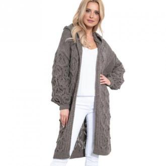 Fobya Kardigan długi Swetry i bluzy Brązowy Dorośli Kobiety Rozmiar:
