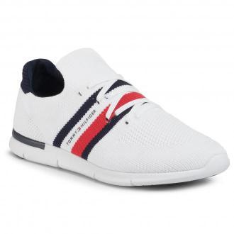 Sneakersy TOMMY HILFIGER - Sporty Lightweight Sneaker FW0FW04998 White YBR